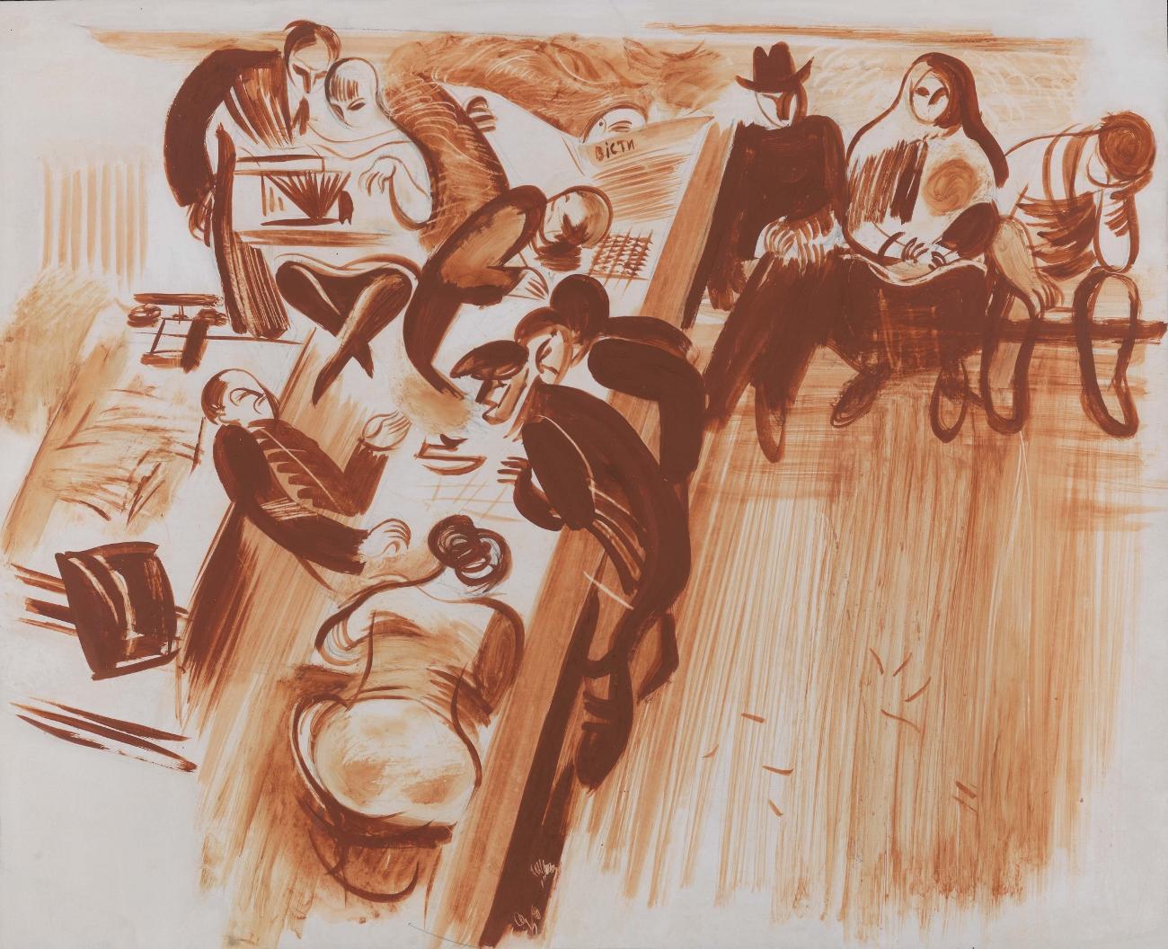 In the Waiting Room, 1923 - Alexander Khvostenko-Khvostov