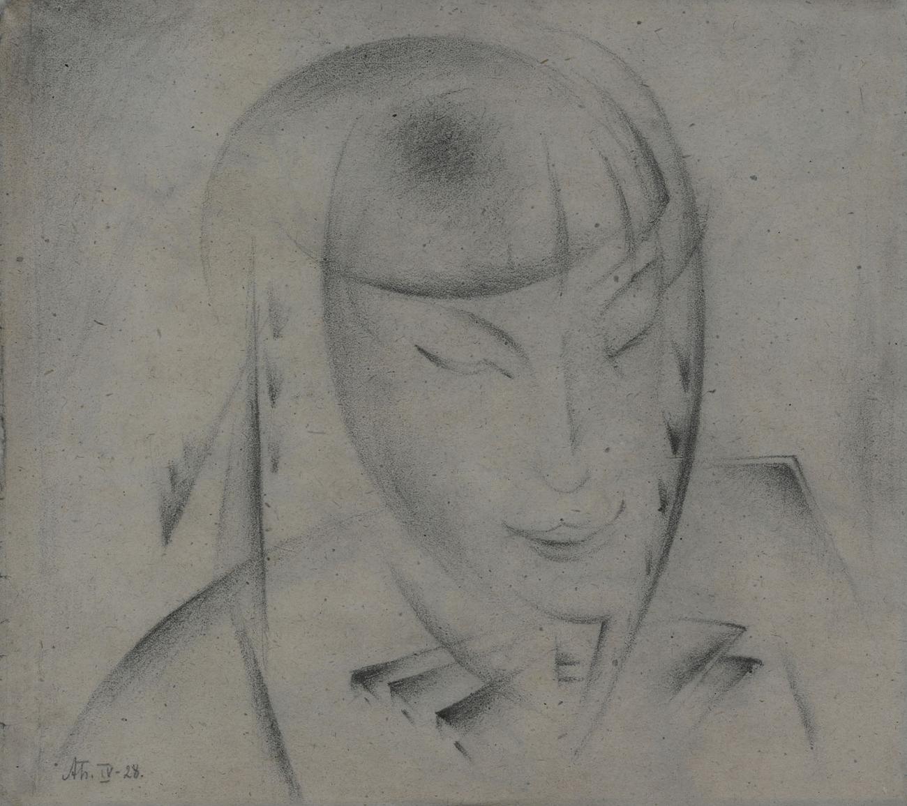 Portrait of the Artists daughter, 1928 - Alexander Bogomazov