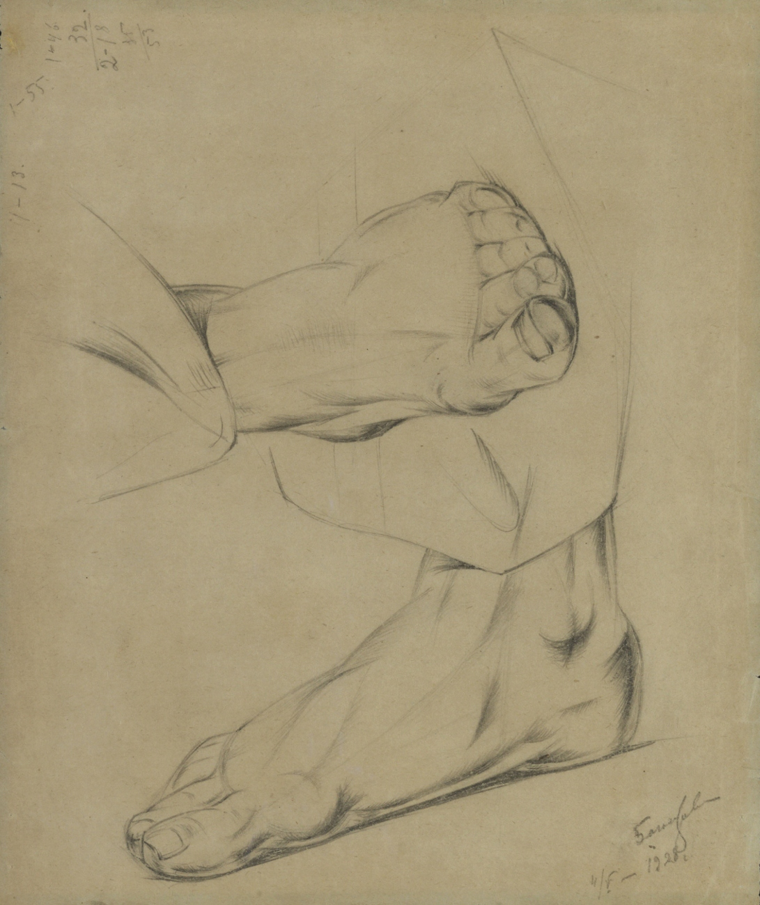 Feet, 1928 - Alexander Bogomazov