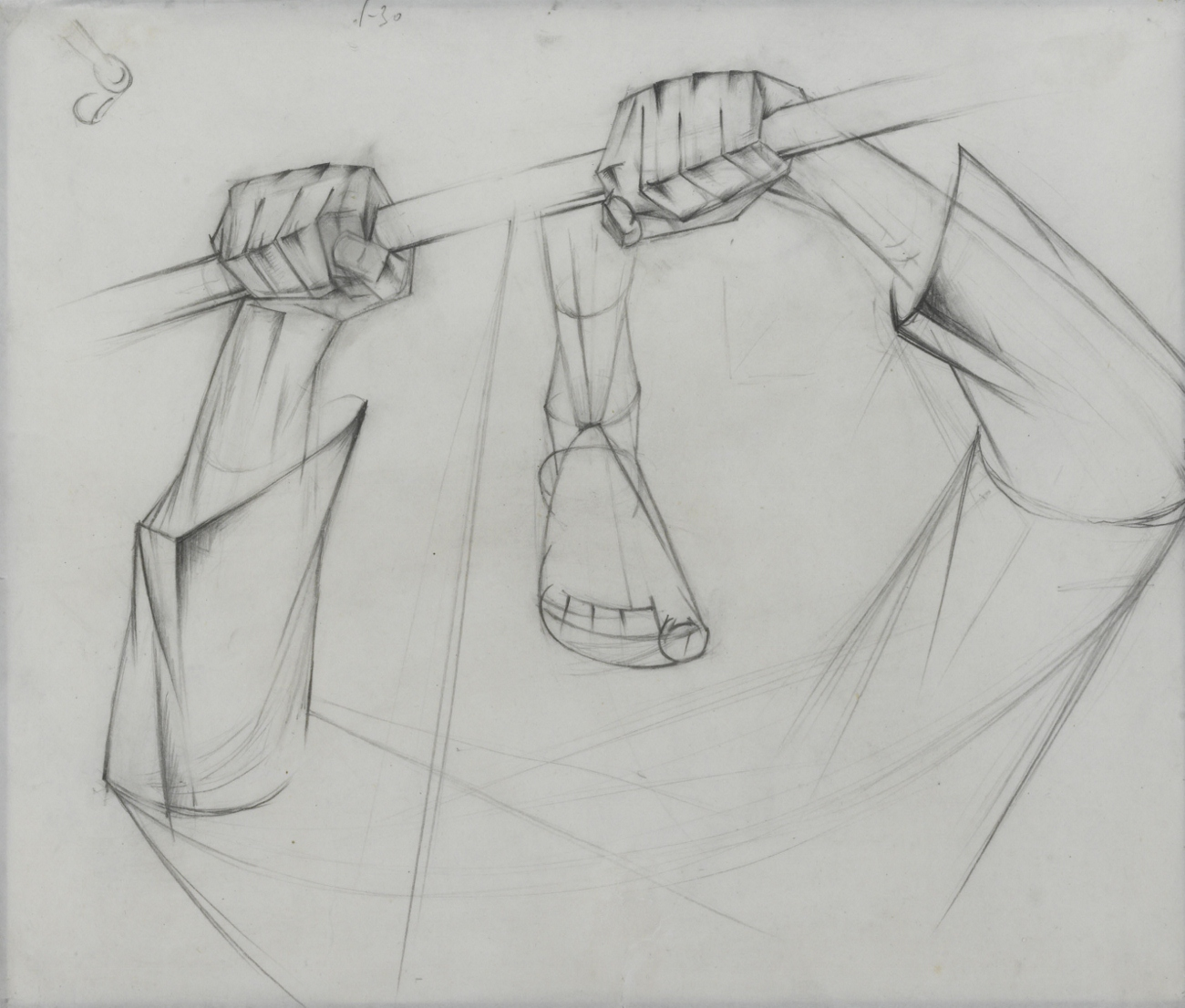 Hands Gripping a Saw, 1928-9 - Alexander Bogomazov