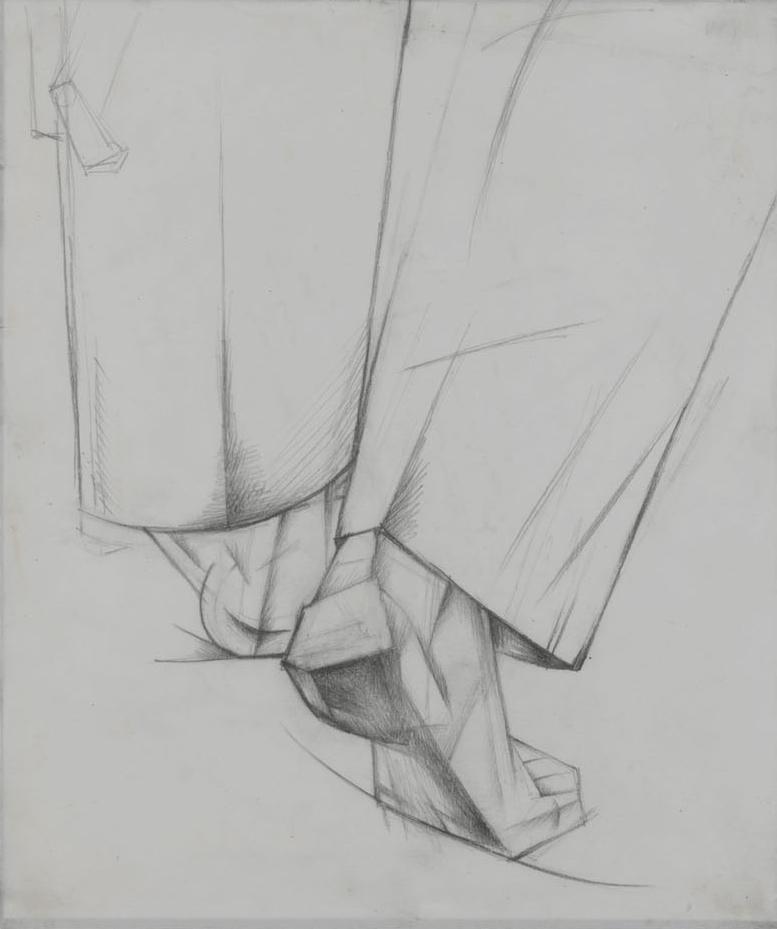 Back of the Legs, 1928 - Alexander Bogomazov