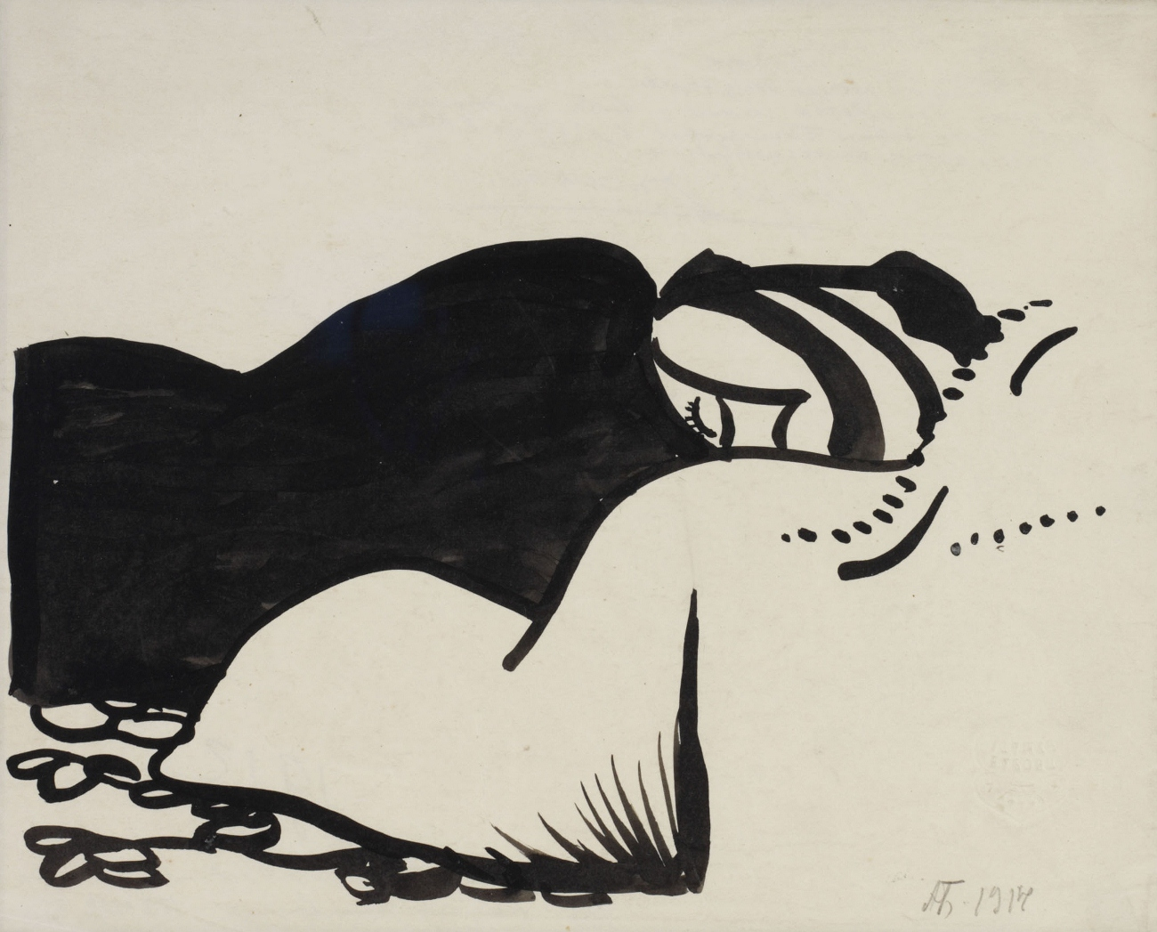 The Artist's wife sleeping, 1911 - Alexander Bogomazov