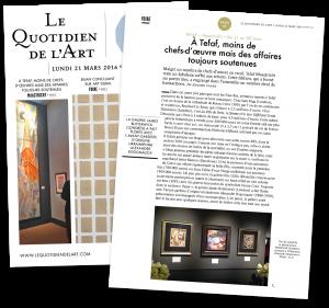 Le Quotidien de L'Art: À Tefaf, moins de chefs-d'œuvre mais des affaires toujours soutenues
