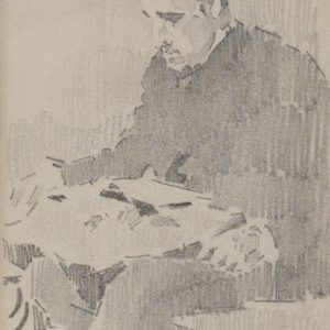 Portrait of Vova Mamontov reading