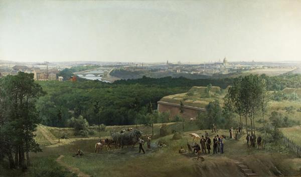 A view of Paris from la porte de la Muette, 1846 - Victor & Joseph Navlet