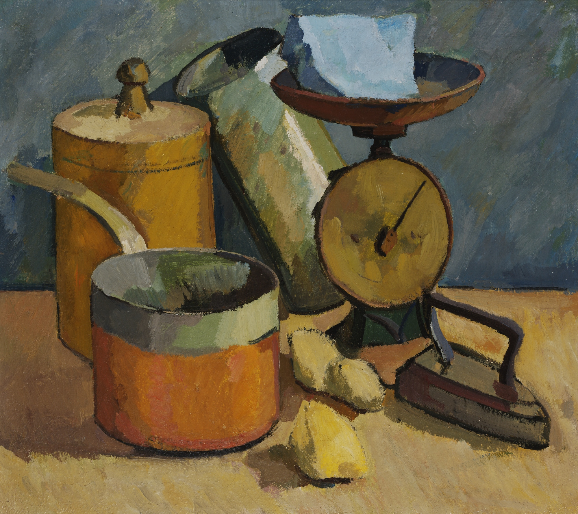 Still Life With Scales, 1923-25 - Alexander Rusakov