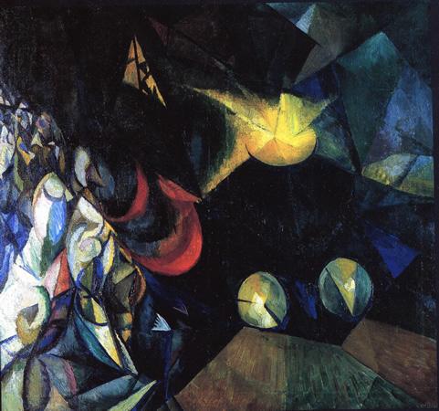 Locomotive, 1915 - Alexander Bogomazov
