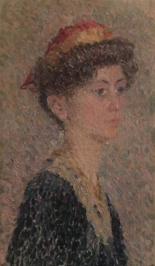 Portrait of a Girl, 1908 - Alexander Bogomazov
