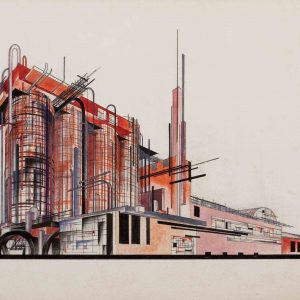Composition on the Theme of a Sulphuric Acid Factory from the series Fundamentals of Modern Architecture