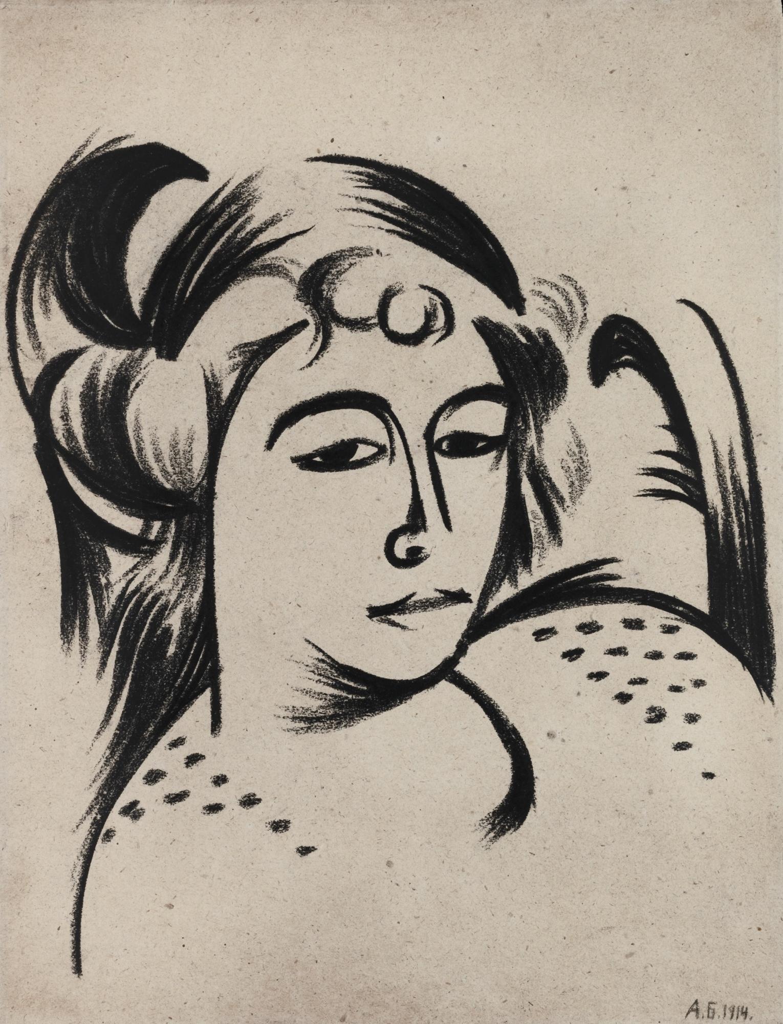 Wanda in an armchair, 1914 - Alexander Bogomazov