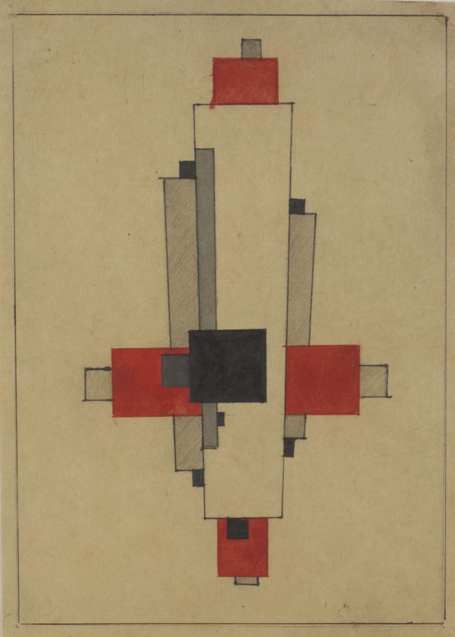 Design for a Suprematist Architecton, 1924-25 - Ilya Chashnik