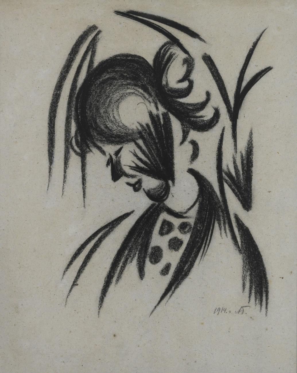 Wanda in Profile, 1914 - Alexander Bogomazov