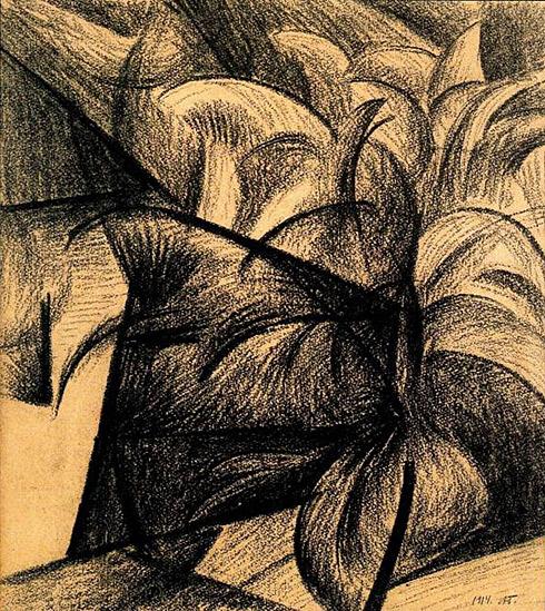 Absract composition, 1914 - Alexander Bogomazov