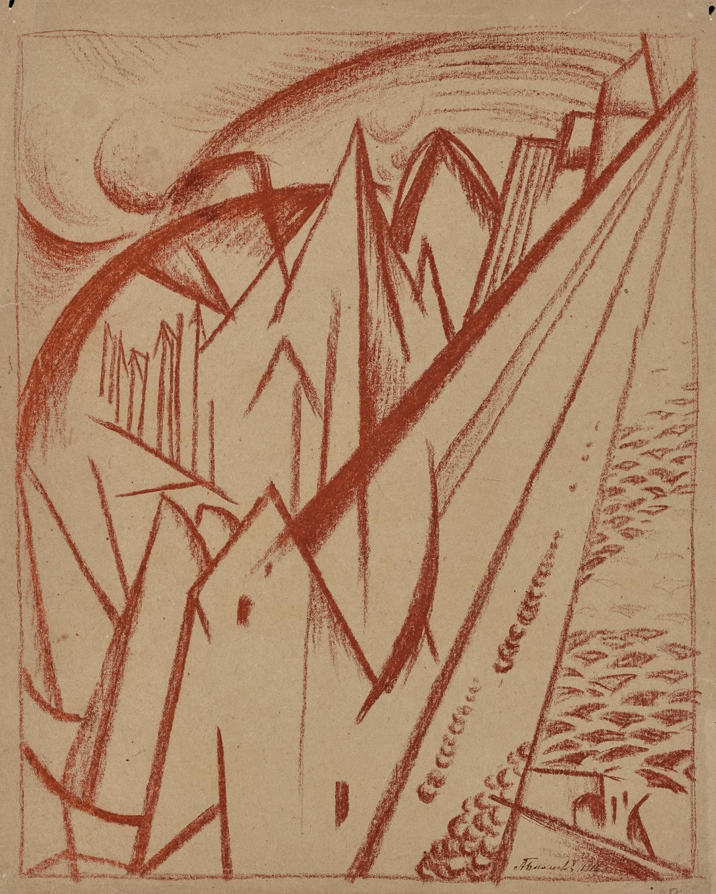Landscape, Caucasus, 1916 - Alexander Bogomazov