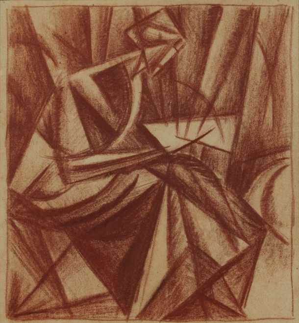 Woman reading, 1914 - Alexander Bogomazov