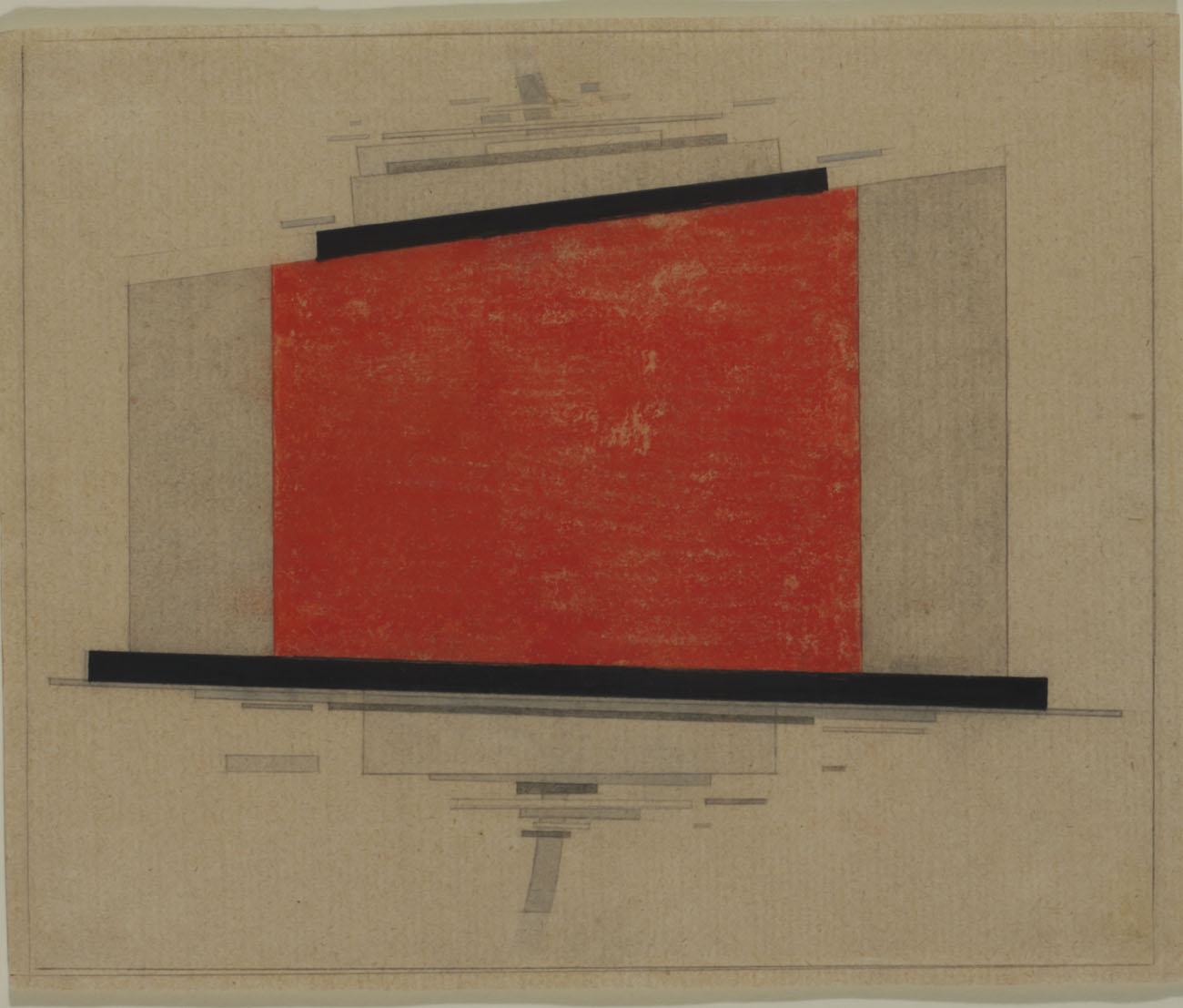 Suprematist form in horizontal motion, 1922 - Ilya Chashnik