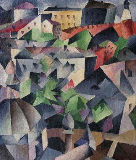 City Landscape, 1912-13 - Alexander Bogomazov