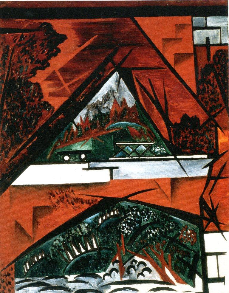 The Bridge, 1916 - Natalia Goncharova