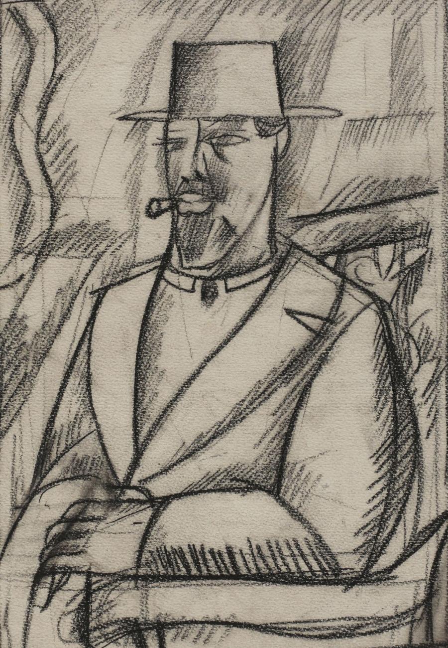 Study for a Self Portrait, 1912-13 - Pyotr Konchalovsky