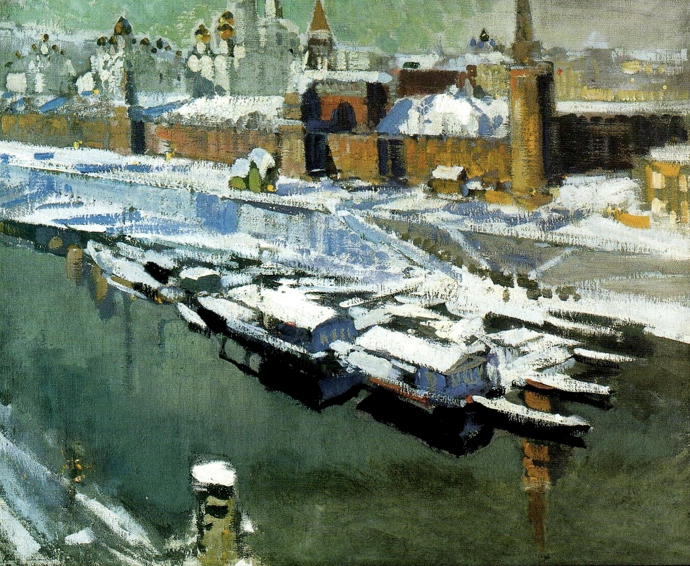 The Kremlin Under Snow, c. 1910 - Konstantin Korovin