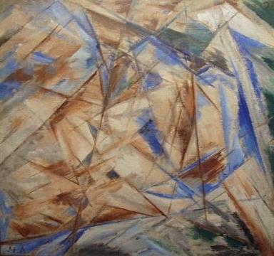 Blue Rayonnism (The Fool), 1910 - Mikhail Larionov