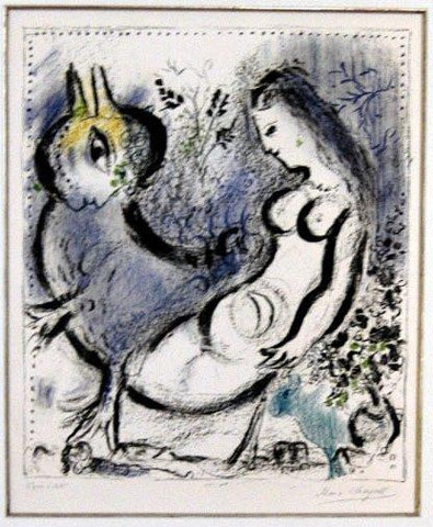 The Blue Nymph, 1962 - Marc Chagall