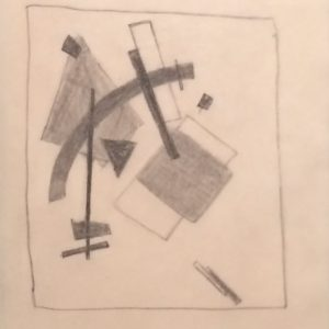 Suprematist Composition (Composition with a plane in spherical projection)