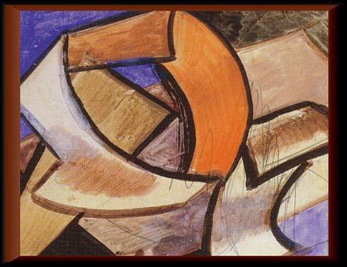 Cubist composition, 1915 - Vladimir Baranov-Rossine