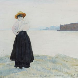 The Crimea. The Artist's wife, Anna on the sea shore