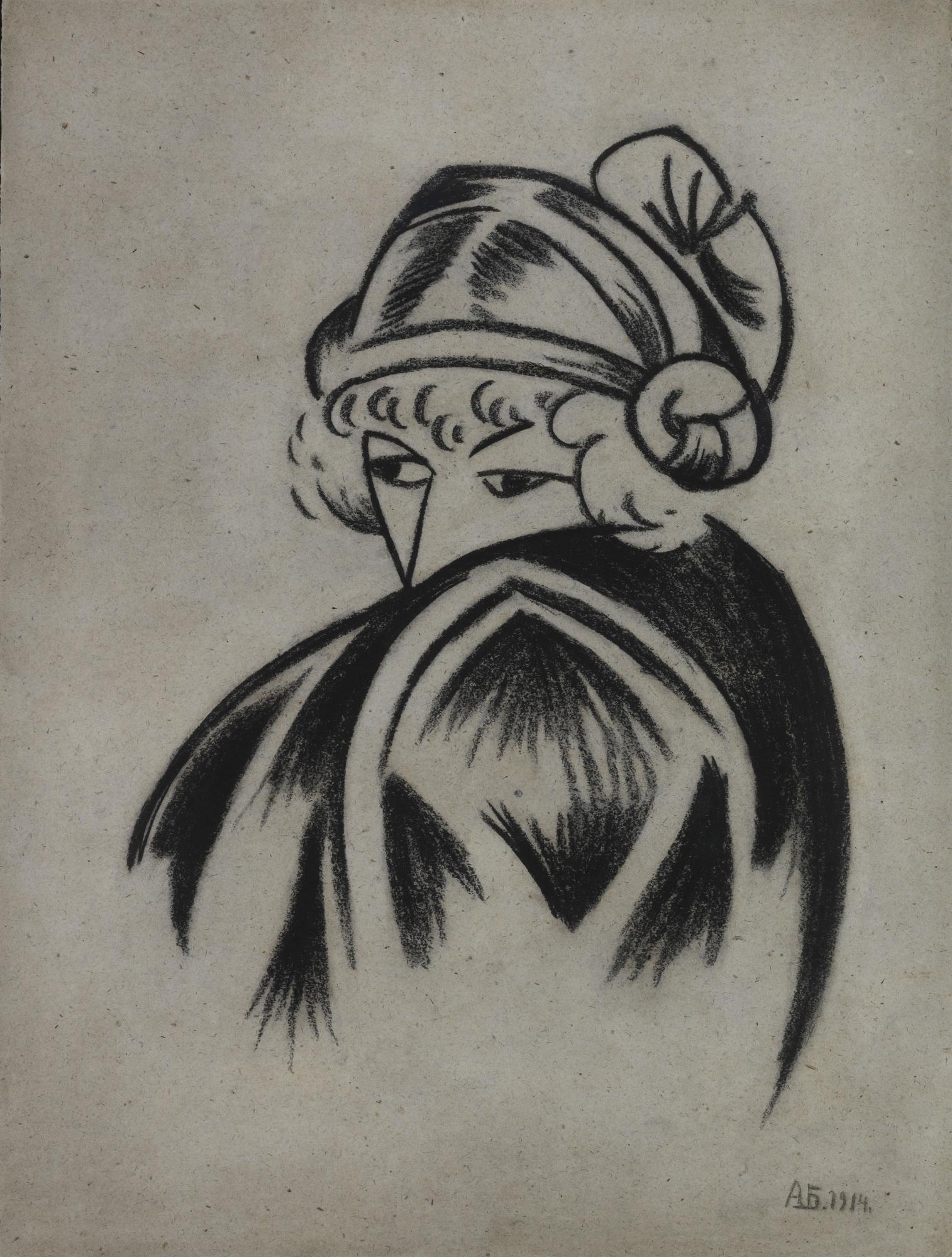 Wanda Looking Over Her Shoulder, 1914 - Alexander Bogomazov