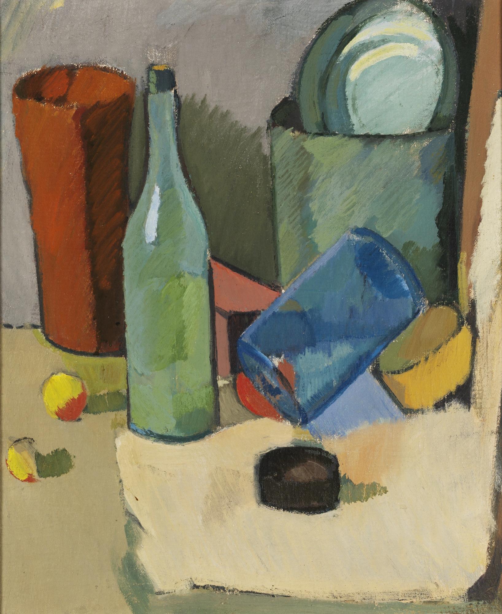 Still Life With a Bottle, 1923-24 - Alexander Rusakov