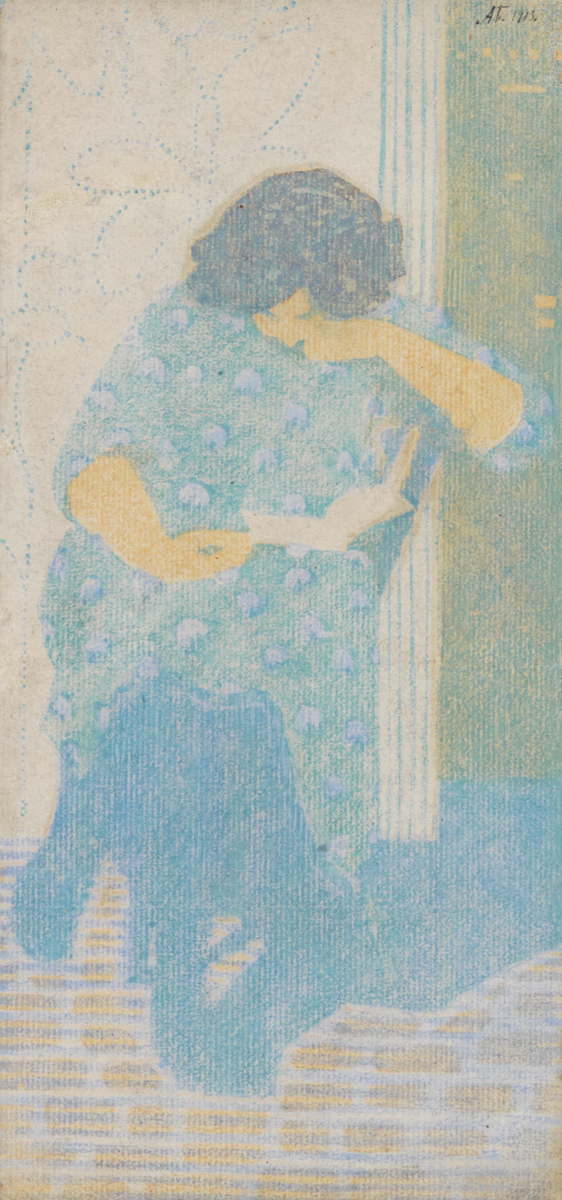 Wanda reading, 1911 - Alexander Bogomazov
