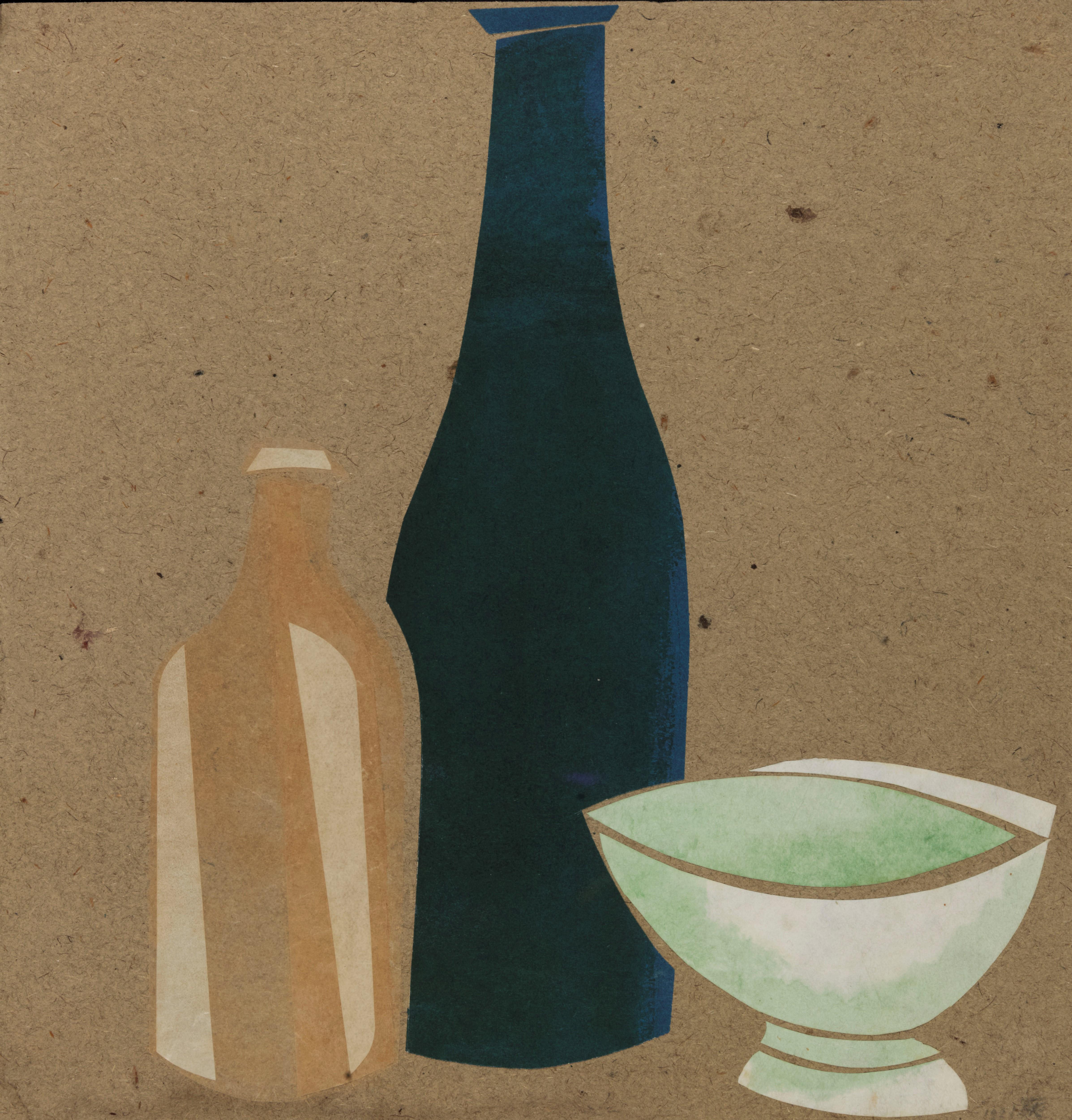 Still life with a glass, 1921 - Boris Kosarev