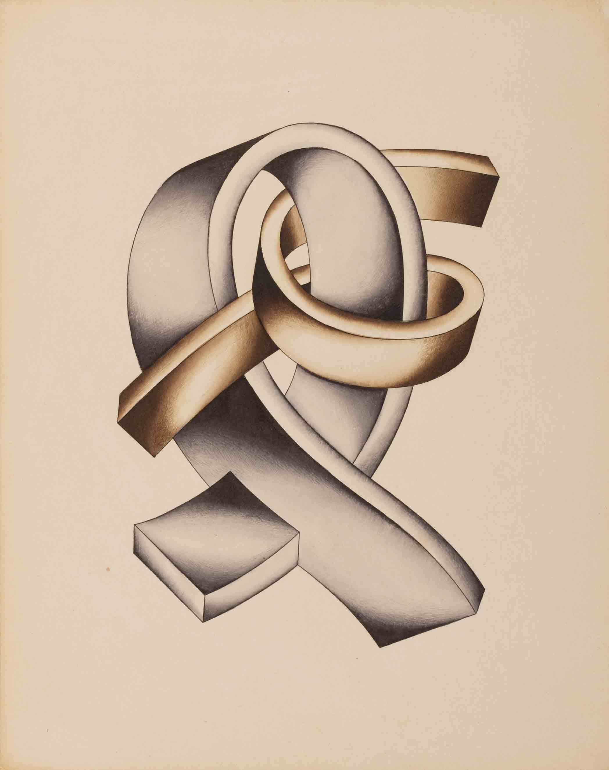 Complicated Bending Forms (Strength and Movement), mid 1920s - Yakov Chernikhov