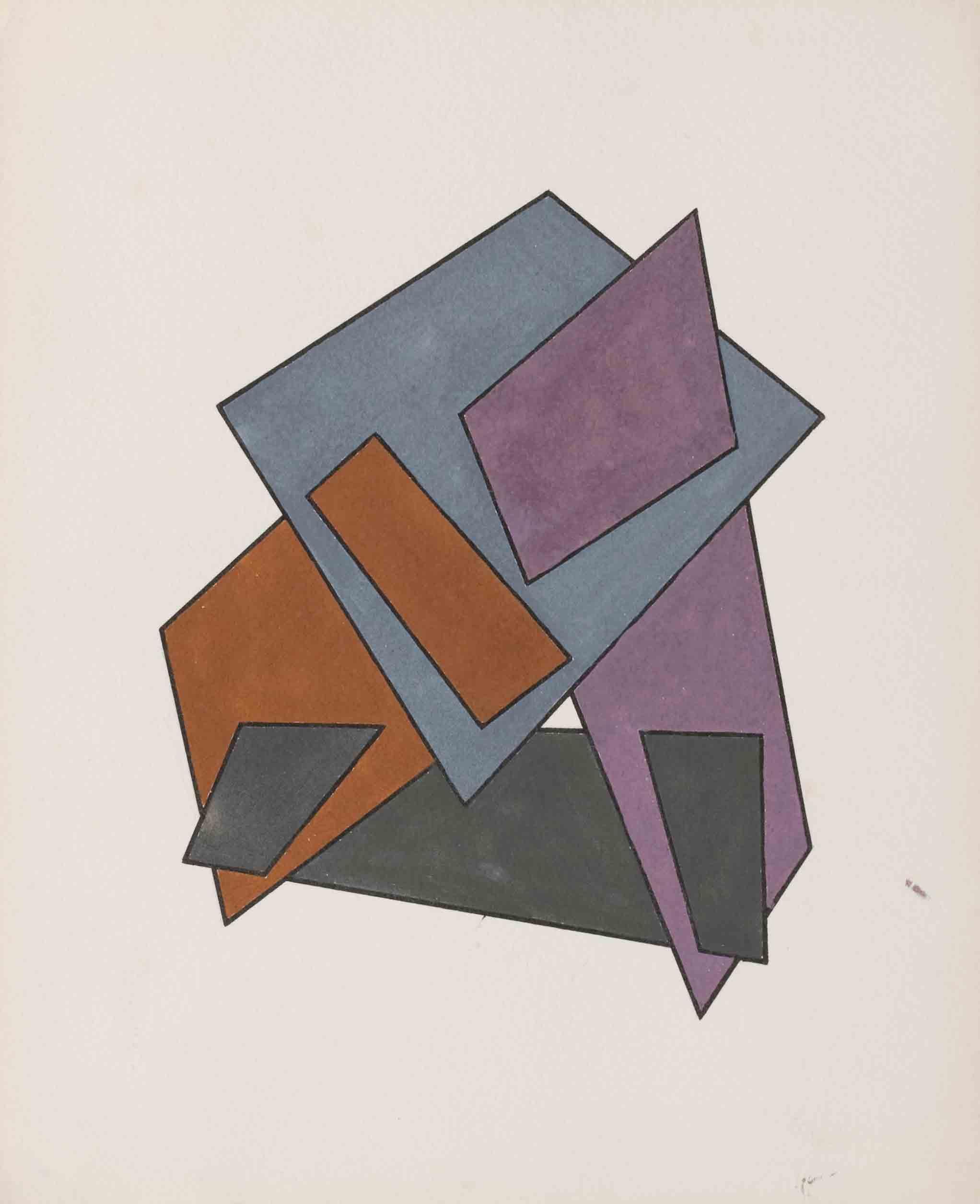 Complicated Figures (no. 35), mid 1920s - Yakov Chernikhov