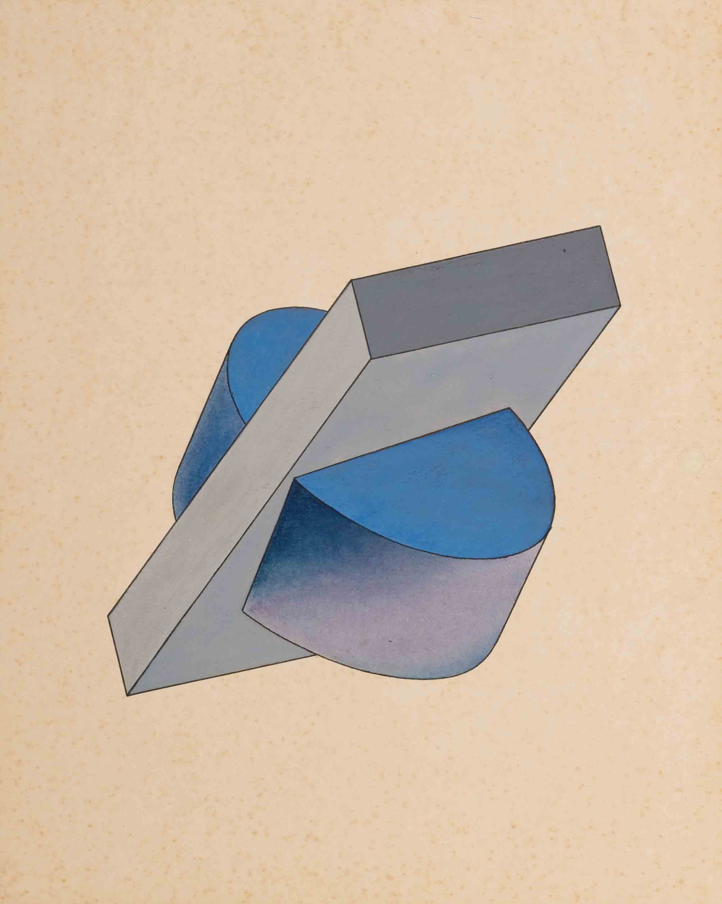 Untitled from the series The Course of Dimensional Art, c.1920s - Yakov Chernikhov