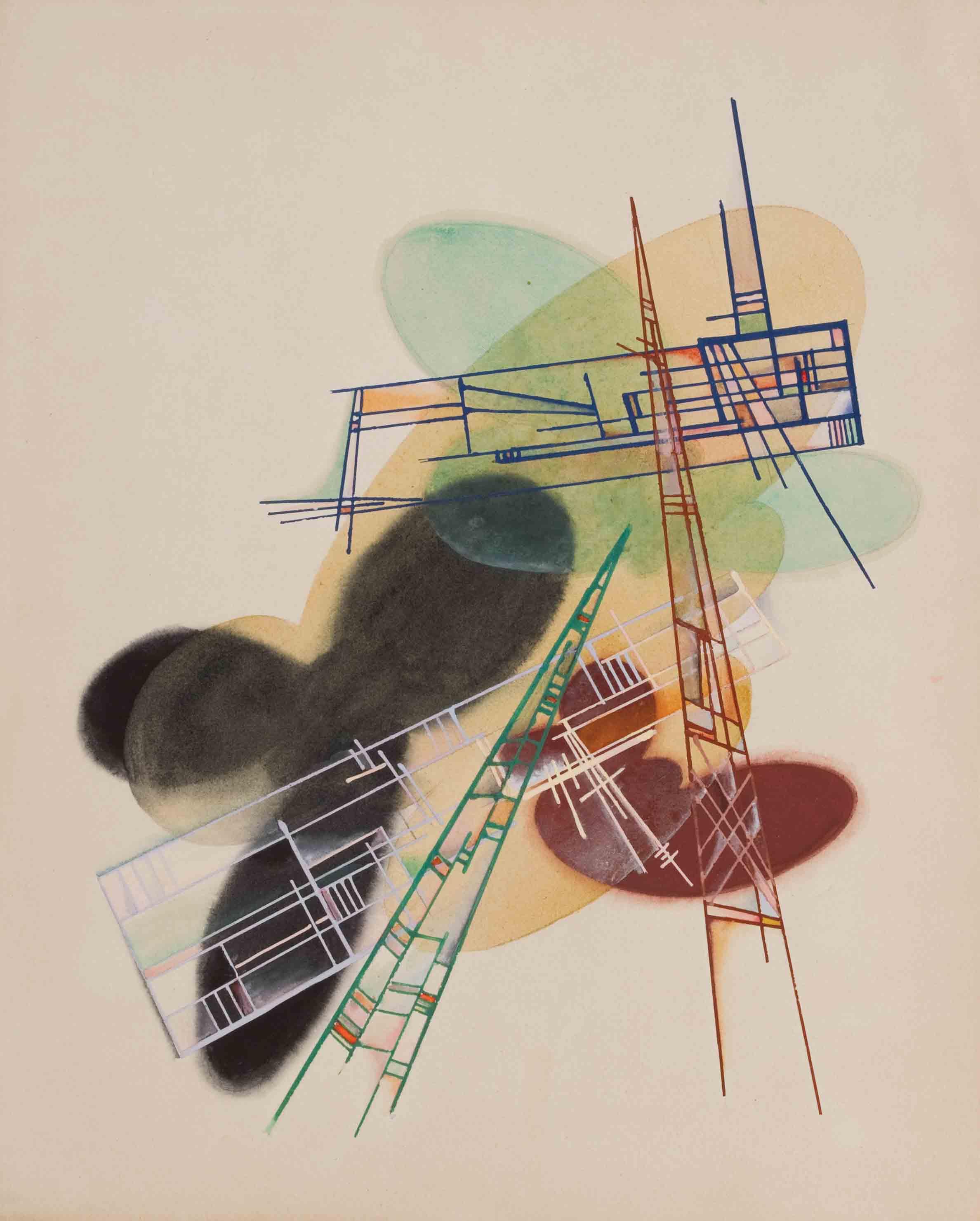 Untitled from the series Aristografiya, mid 1920s - Yakov Chernikhov