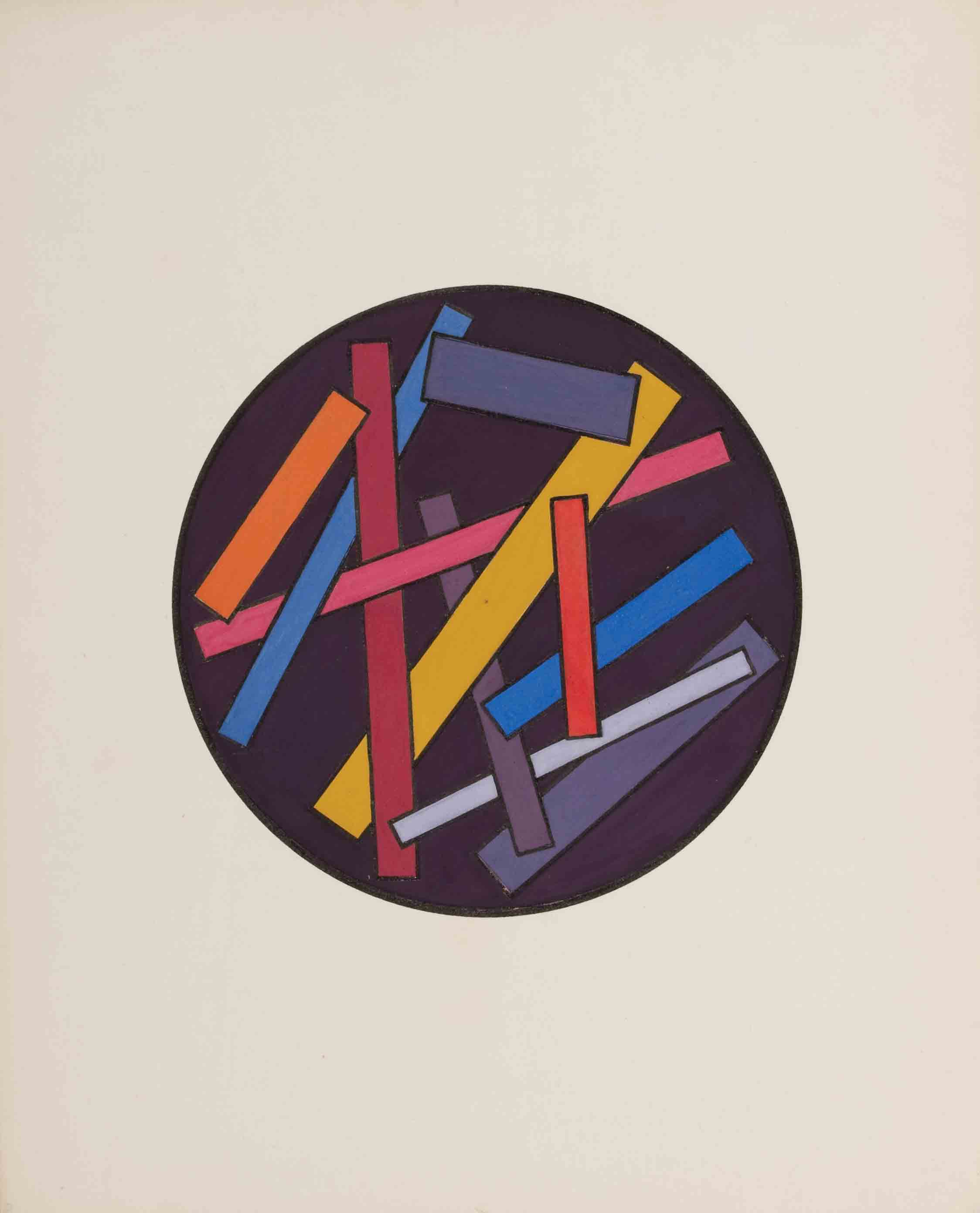 Untitled from the series The Course of Dimensional Art, mid 1920s - Yakov Chernikhov