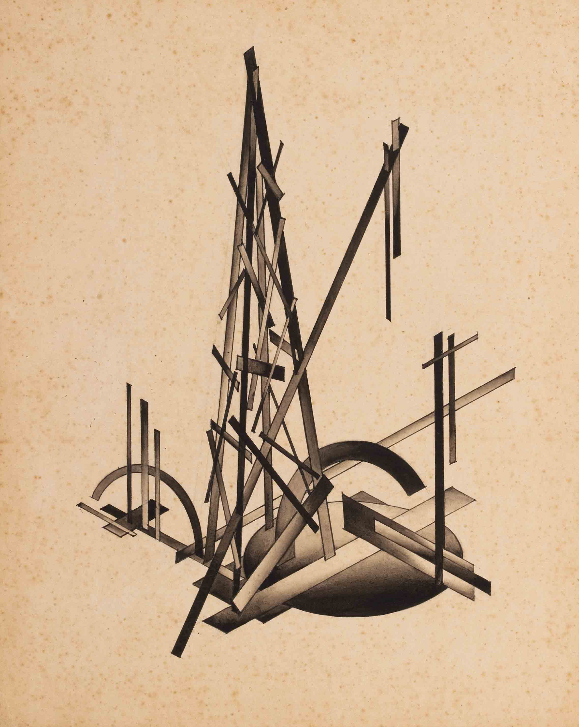 Nonconstructive Union of Planes from the series Fundamentals of Modern Architecture, late 1920s - Yakov Chernikhov