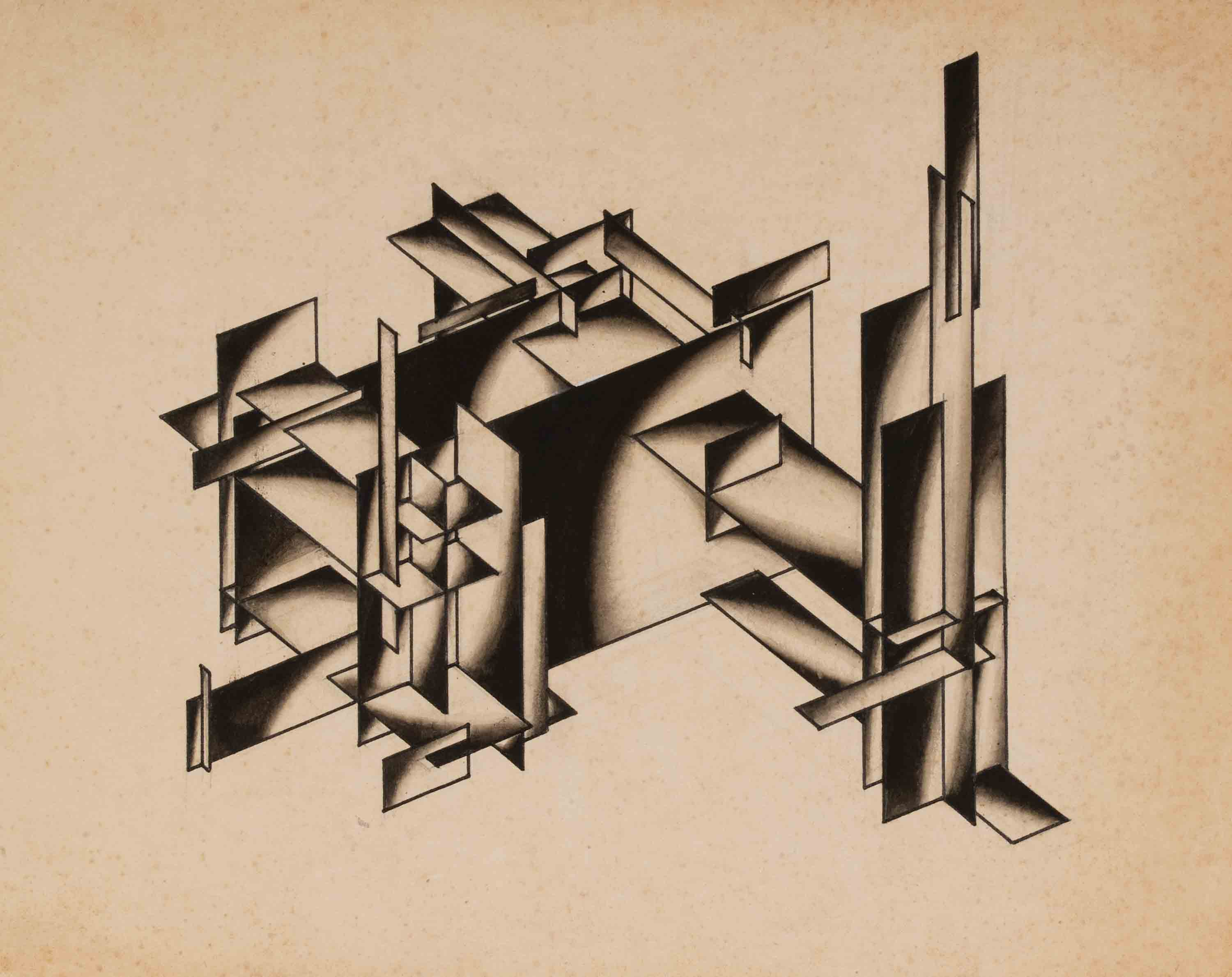 Untitled from the series Fundamentals of Modern Architecture, 1920s - Yakov Chernikhov