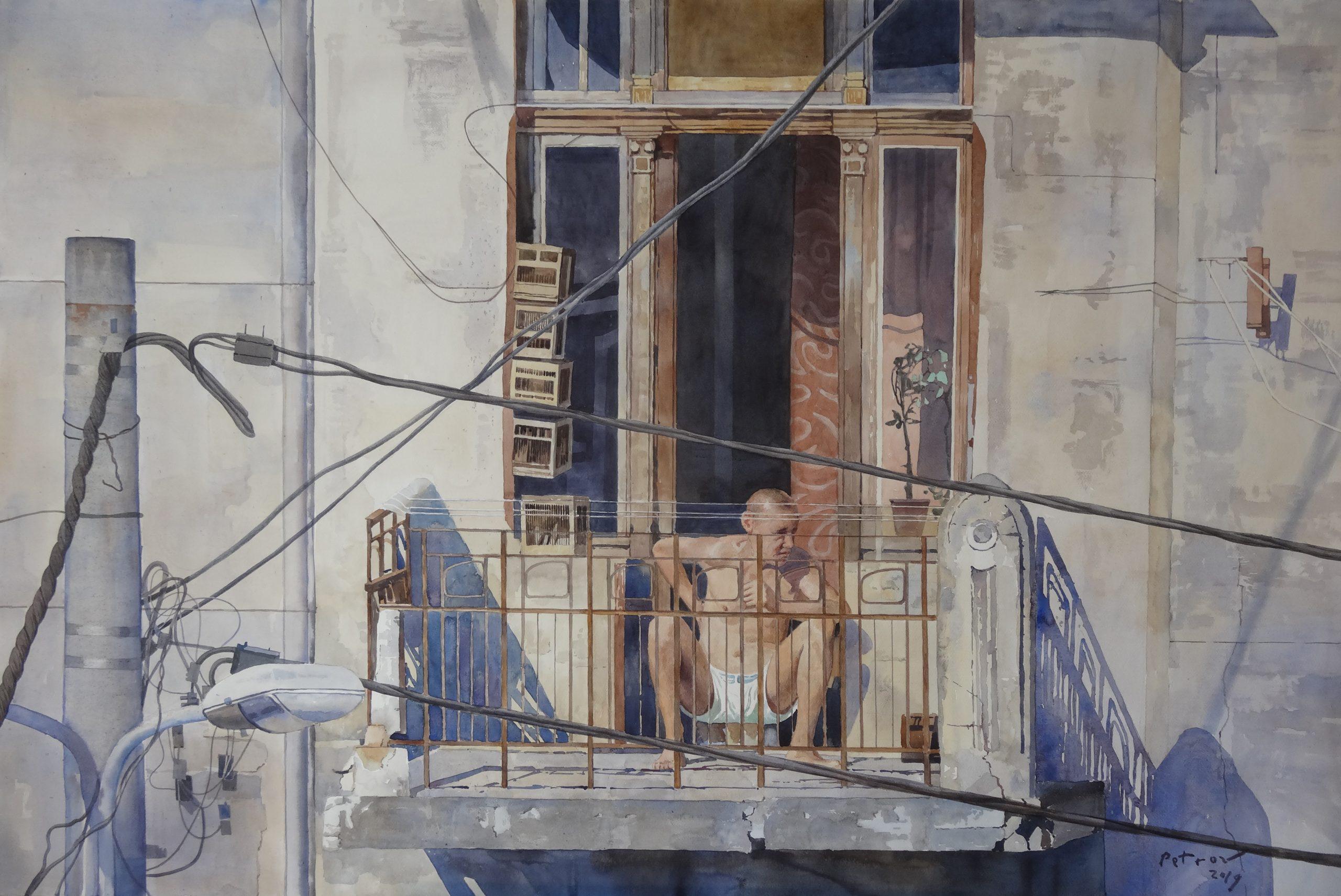 On the Balcony, 2019 - Yevgeny Petrov